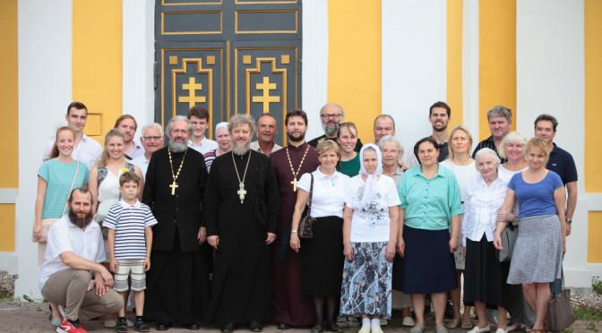 Божественная Литургия в храме святителя Николая Мирликийского в с. Здехово