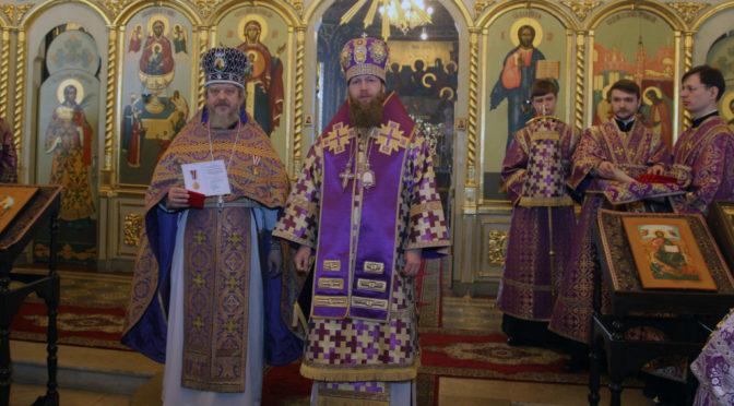 протоиерей Сергий Киселев был награжден юбилейной медалью «В память 100-летия восстановления Патриаршества в Русской Православной Церкви».
