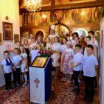 19 августа 2019 года члены православного лагеря в Лейзане посетили монастырь Святой Троицы в г. Домпьере