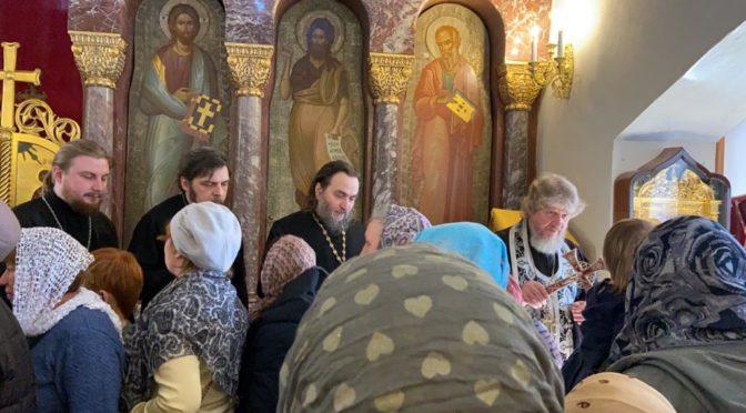 Прощеное воскресенье в храме Рождества Христова