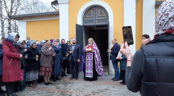 29 марта 2020 года, в Неделю 4-ю Великого поста, прп. Иоанна Лествичника, в храм свт. Николая Мирликийского был принесен ковчег с мощами священномученика Харалампия