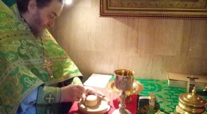 12 июня 2020 года в храме Рождества Христова было совершено богослужение