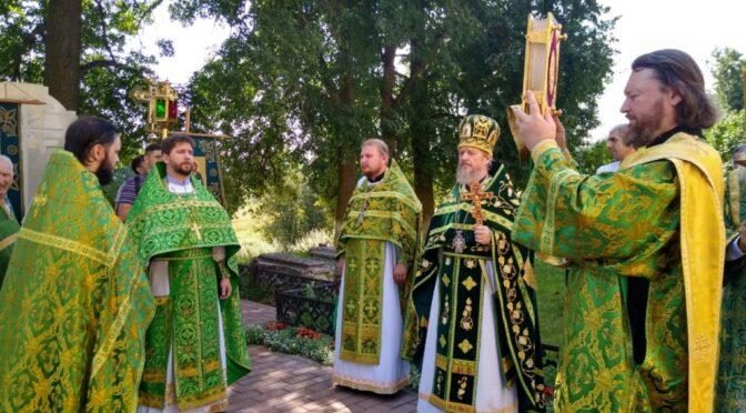 18 июля 2021 года в день обретения мощей прп. Сергия Игумена Радонежского в храме свт. Николая в Здехово состоялись праздничные богослужения